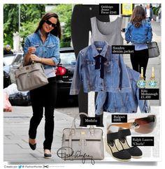 Pippa Middleton look | June 8, 2011 --> PIPPA MIDDLETON CHAQUETA: Sandro denim jacket PANTALONES: Misfit Skinny Jeans by GoldSign BOLSO: by Modalu (color gris tuburon) ANTEOJOS: by BVLGARI 6008 102-13 115 3N Cicladi PANDIENTES: by Kiki McDonough Eternal' Drop Oval Blue Topaz COLGANTE: Tiffany & Co Elsa Peretti