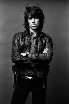 Keith Richards | rock star | portrait | leather jacket | rock n roll | rolling stones | laid back | casual http://eclipcity.com