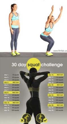 Beginner 30-Day Squat Plan. When it comes to butt-sculpting moves, theres no better, more efficient exercise than the squat. Seriously. This exercise targets not only your glutes, but your thighs and core. So we decided to put together a 30-day squat plan specially for you!