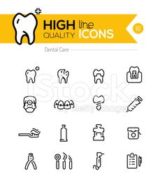 Dental Care line icons series royalty-free stock vector art