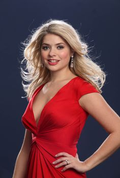 Picture of Holly Willoughby Holly Willoughby Legs, Helen Flanagan, British Celebrities, Holly Peers, Gorgeous Blonde, Satin Dresses, Woman Crush, Lady In Red, Sexy Women