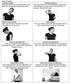 """neck exercises"" (Awesome daily routine for my chronic neck pain.) ""neck exercises"" (Awesome daily routine for my chronic neck pain.),PT ""neck exercises"" (Awesome daily routine for my chronic neck pain. Shoulder Exercises Physical Therapy, Neck And Shoulder Exercises, Shoulder Workout, Physical Exercise, Scoliosis Exercises, Neck Exercises, Neck Stretches, Stretching Exercises, Workout Exercises"