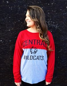 Color Blocked Central Wildcats Collegiate Top. Central Washington University. CWU. - CWU Wildcats Shop Online: http://cwubookstore.collegestoreonline.com/ePOS?form=item.html&item=64493866258&store=201