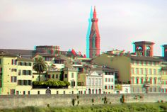 https://flic.kr/p/MUNXp8 | Florence 3D | anaglyph stereo red/cyan Santa Croce  hyperstereo