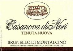 2006 Casanova di Neri Tenuta Nuova, Brunello di Montalcino DOCG, Italy  100pts by suckling, 75 pounds