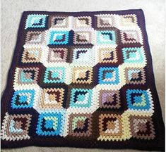 Good and Evil Granny Block Crochet Afghan The color block and exchange in this pattern is one of the most unique and eye-catching that we've come across. If you're up for a bit of a challenge and want to do something completely different, this pattern is for you!  Which color combo will you do? …