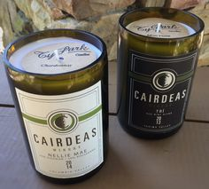 Cairdeas Winery, Washington, authentic recycled wine bottle candle