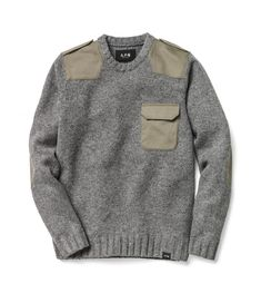 A.P.C. X Charhartt | Mens knitwear | Wool jumper | Fall/autumn/winter style