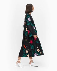 Jyly Herbaario dress - black, pink, green - Dresses - Clothing - Marimekko.com