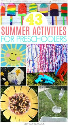Need some fun inspiration for summer activities for preschoolers? We've got over 40 ideas they'll love with everything from sensory play to nature crafts, outdoor art ideas, summer paper plate crafts, ice cream, donuts and sea crafts for kids. Everything in one place to make this summer the best ever!