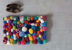 Crazy Pom Pom Rug | 20 DIY Rugs
