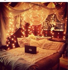 Canopy lights... Super cozy & cute