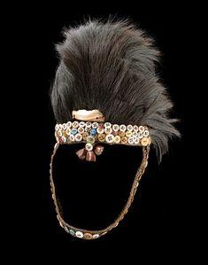 Africa   Lega people, DR of Congo   Hat    Fur, button, shell, raffia