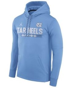 Nike Men's North Carolina Tar Heels Therma-Fit Sideline Hoodie - Blue XXL