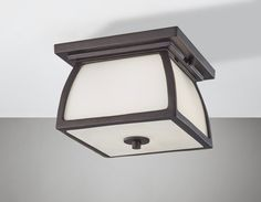 "Murray Feiss OL8513 Wright House 2 Light 9"" Outdoor Flushmount Ceiling Fixture w Oil Rubbed Bronze Outdoor Lighting Ceiling Fixtures Flush Mount"