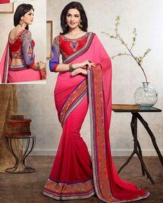 Majestic Pink Shade Georgette Designer Saree Product Code: 2104 Shop Now : http://www.shivoham.biz/product_info.php/kessi/saree/majestic-pink-shade-georgette-designer-saree-p-1169 Call Or WhatsApp - 09712933378 Email - Care@shivoham.biz