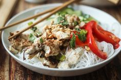 Vietnamese Vermicelli Noodle Bowl (Bun)   thewanderlustkitchen.com I want to learn to make but good Vietnamese food is so cheap and plentiful here in Chicago