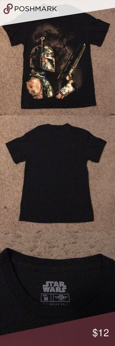 """Star Wars Men's Short Sleeve Shirt """"Boba"""" Themed Worn once, perfect condition, Black Star Wars themed Boba Fett, Medium size Star Wars Shirts Tees - Short Sleeve"""