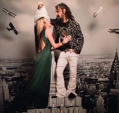 Rob Zombie and wife Sheri Moon Zombie at his 50th birthday bash