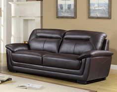 Tyson Genuine Leather Sofa ONLY $1299 - TAX INCLUDED - FREE LOCAL DELIVERY  https://www.palluccifurniture.ca/tyson-genuine-leather-sofa-black/