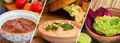 Saucen machen das Grillen erst richtig komplett! Rauchige Salsa, bunte und knackige Pico de Gallo, klassische Guacamole und köstliche Chipotle-Sauce.