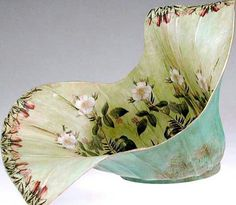 Natalie Wargin makes beautiful paper mache bowls decorated with decoupage and paint.