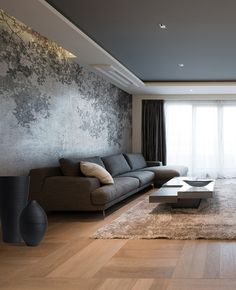Wall effect wallpaper THEATER Wall Collection By Adriani e Rossi edizioni House Ceiling Design, Ceiling Design Living Room, Bedroom False Ceiling Design, Home Room Design, Modern Ceiling Design, Living Room Modern, Home Living Room, Apartment Interior, Interior Design Living Room