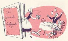 A delightfully fun 1950s cookbook illustration.