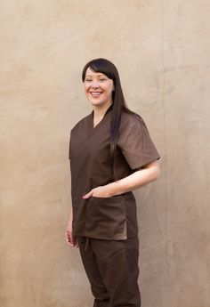 Mar Scrub Set Brown