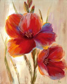 Flores rojas (arte decorativo) Camisetas en AllPosters.es