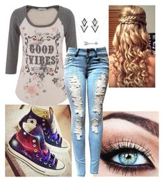 """""""Back to School"""" by trinityhuckaby ❤ liked on Polyvore featuring Converse, maurices, Adina Reyter and Elise Dray"""