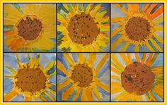 """art project to go along with """"Van Gogh and the Sunflowers"""" by Laurence Anholt"""