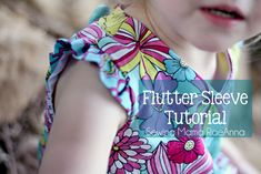 Flutter Sleeve Tutorial...Sewing Mama Raeanna First, decide how long you want your flutter sleeves to extend.  Since you will be gathering you need to add extra length to that measurement.  For my sleeves I used 2 strips (one for each shoulder) 8.5″ long and 3.5″ wide.