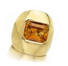 A Gold and Citrine Ring, by Suzanne Belperron, circa 1940. Via FD Gallery, www.fd-inspired.com