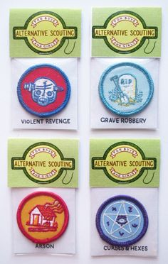 """Scouting merit badges for cool shit like prank-calls, grave-robbing and arson! 