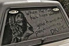 Dirty car, great art