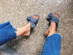 Denim now mules. All the good things.