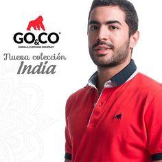 Nuestro compromiso con cada #PoloGoCo ¡es que te sientas y veas muy bien! #GoCoIndia nueva colección disponible en tiendas y en www.gococlothing.com. Despachamos a todo Colombia sin costo de envío #GoCo #LaMarcaDelGorilla #Clothing