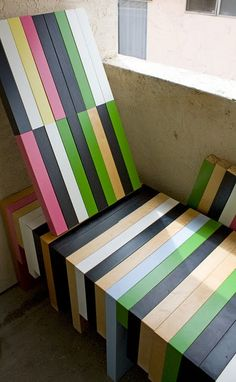 You know those cheap Ikea tables? Well, here's a bench made from them. Brilliant.