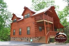 "This  LOG CABIN is Excellent for two couples or two families! Each bedroom has a king size bed, full bathroom and Jacuzzi tub. Curl up in the home ""movie theater"" and watch your favorite movie or television show! (DVD/VCR compatible) You are sure to have ""A Bundle of Fun"" at this awesome unit in the Great Smoky Mountains."