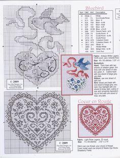 Heart Blackwork Design