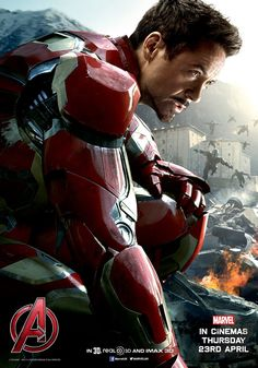Iron Man character poster. Avengers: Age of Ultron.