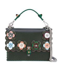 FENDI Dark Green Embellished Kan I Shoulder Bag.  fendi  bags  shoulder bags 61e70eafb3