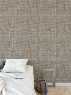 DOTS ABSTRACT TAUPE Peel and Stick Wallpaper By Kavka Designs - 2ft x 16ft