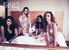 Take that! Perrie Edwards showcased her enviable figure in a daring lingerie in the latest images from Little Mix's Fault magazine shoot