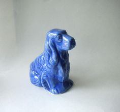Vintage Pottery Spaniel Planter by BeppieandEido on Etsy