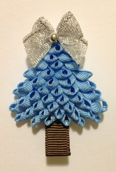 christmas tree bows | Christmas Tree Ribbon Sculpture by Baby Bug Wear - ... | Bow Ideas