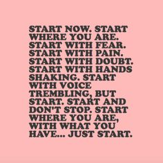 4fitnesssake:All you have to do is start :)