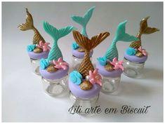 Mermaid Theme Birthday, Little Mermaid Birthday, The Little Mermaid, Foam Crafts, Resin Crafts, Diy And Crafts, Mermaid Gifts, Mermaid Cakes, Cute Clay
