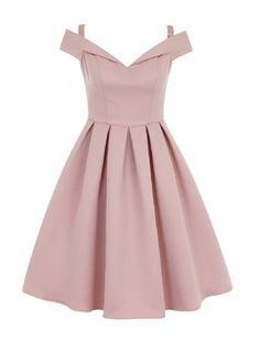 **Chi Chi London bardot midi dress